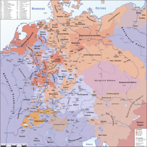 Cartina del Sacro Romano Impero nel 1618