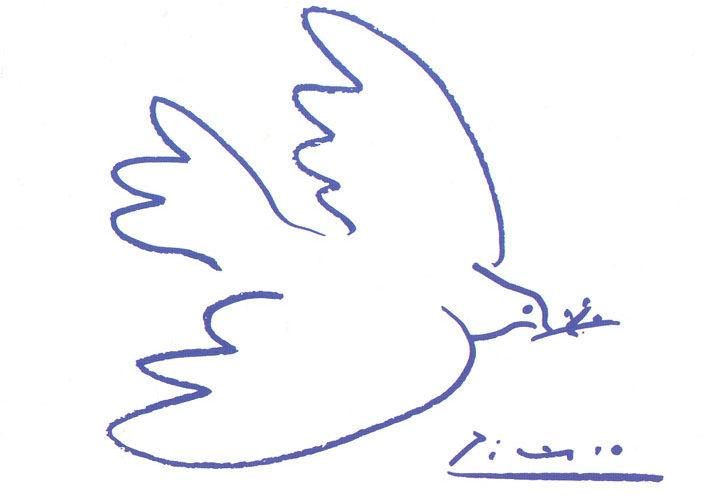 Colomba della pace di Picasso