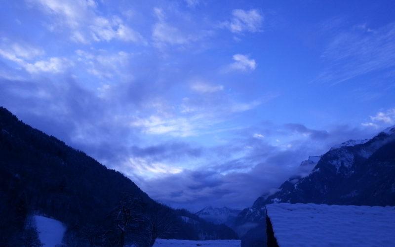 Cielo invernale a Bondo