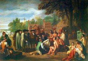 Quadro con Penn e gli indiani