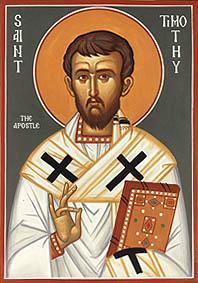 Timoteo in un'icona