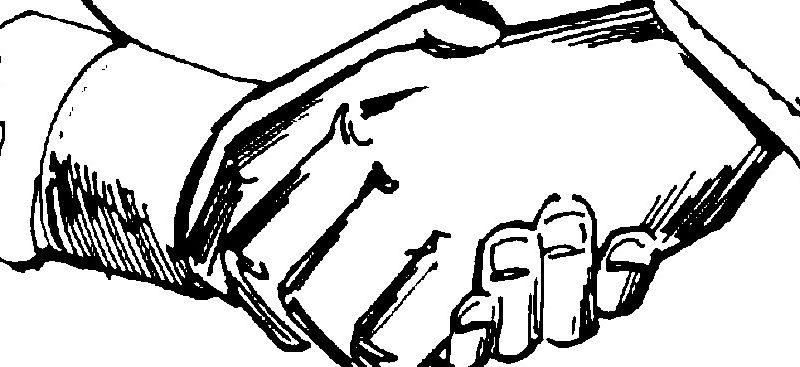 stretta di mano