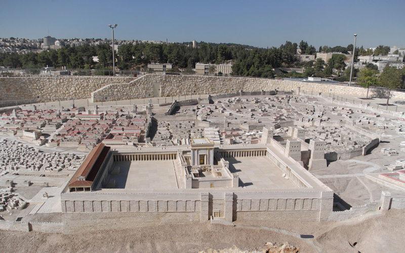 Modello di Gerusalemme e secondo Tempio