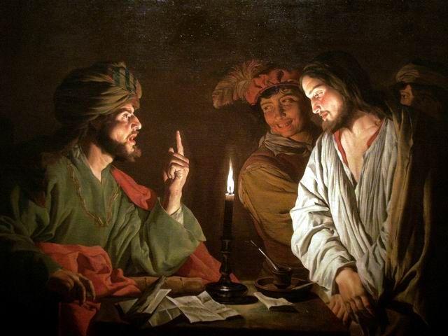 Cristo dinnanzi a Caiafa di Mattias Stom