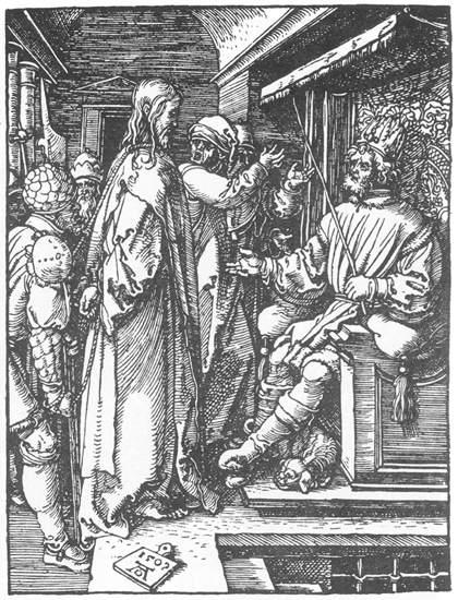 Gesù dinnanzi a Pilato - Dürer