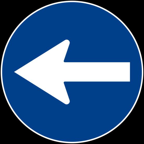 Freccia cartello stradale