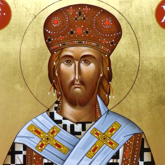 Gesù Sommo Sacerdote da icona ortodossa