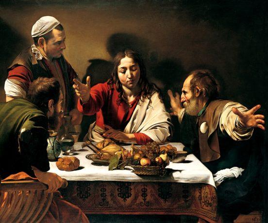 Caravaggio Cena in Emmausus